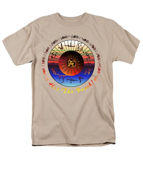 Men's T-Shirt  (Regular Fit) featuring the drawing Sun Face Stylized by Robert  G Kernodle