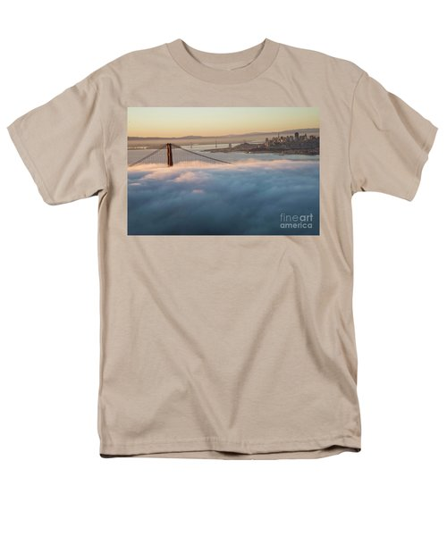 Men's T-Shirt  (Regular Fit) featuring the photograph Sun Rise At Golden Gate Bridge by David Bearden