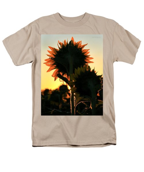 Men's T-Shirt  (Regular Fit) featuring the photograph Sunflower Greeting  by Chris Berry