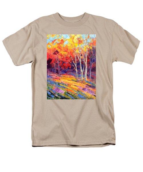 Men's T-Shirt  (Regular Fit) featuring the painting Sunlit Shadows by Tatiana Iliina