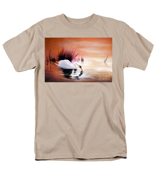 Men's T-Shirt  (Regular Fit) featuring the painting Sunrise On Swan Lake by Michael Rock