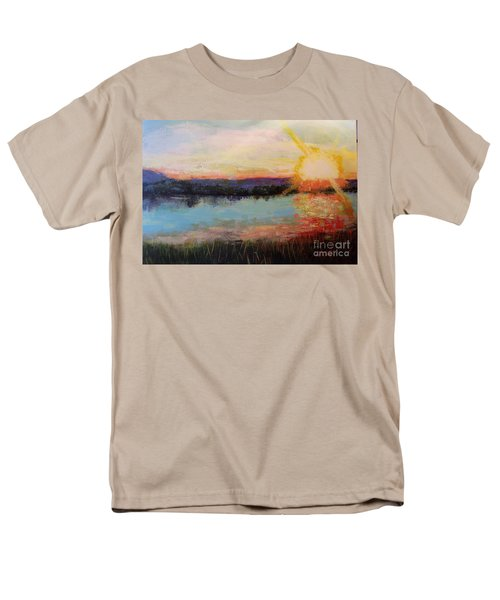 Men's T-Shirt  (Regular Fit) featuring the painting Sunset by Marlene Book