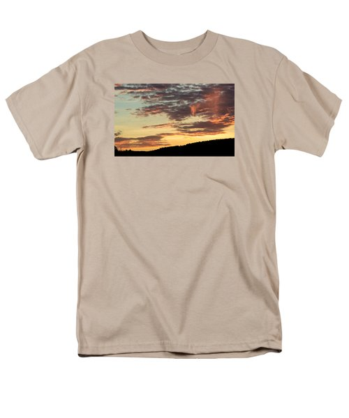 Men's T-Shirt  (Regular Fit) featuring the photograph Sunset On Hunton Lane #6 In The Company Of Angels by Carlee Ojeda