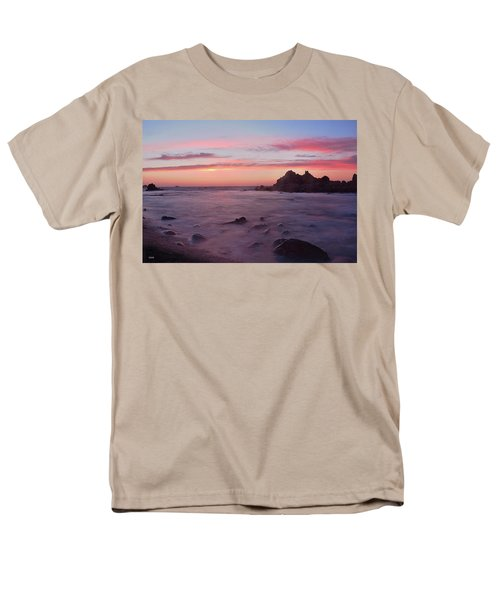 Men's T-Shirt  (Regular Fit) featuring the photograph Sunset On Monterey Bay by Dana Sohr