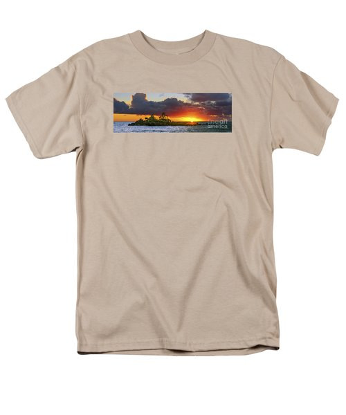 Sunset On The North Shore Of Oahu Men's T-Shirt  (Regular Fit) by Aloha Art