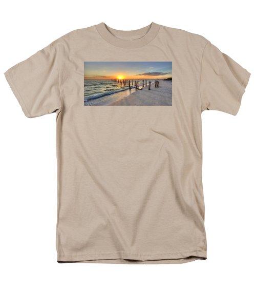 Sunset Pilings Men's T-Shirt  (Regular Fit) by Sean Allen