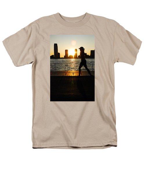 Sunset Runner Men's T-Shirt  (Regular Fit) by James Kirkikis