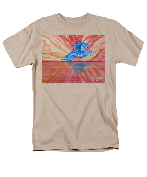 Sunset Seahorse Men's T-Shirt  (Regular Fit) by Steed Edwards