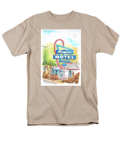 Supai Motel In Route 66, Seliman, Arizona Men's T-Shirt  (Regular Fit) by Carlos G Groppa