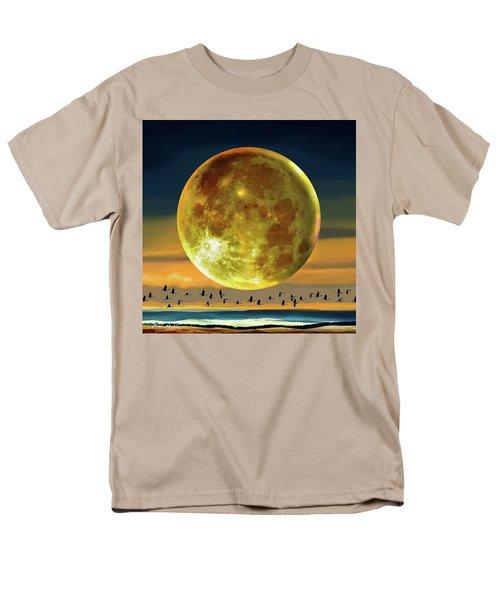 Super Moon Over November Men's T-Shirt  (Regular Fit) by Robin Moline