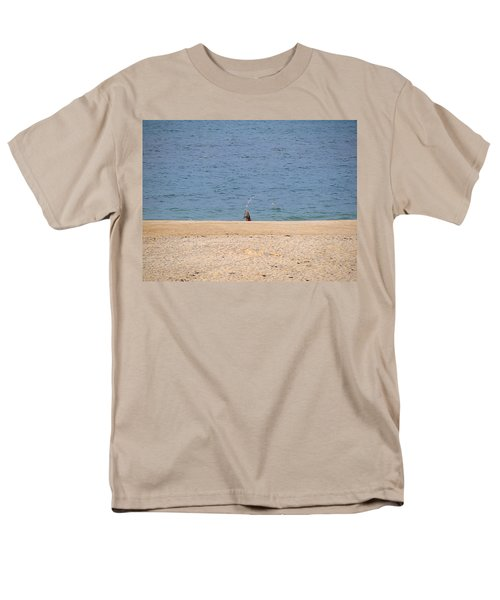 Men's T-Shirt  (Regular Fit) featuring the photograph Surf Caster by  Newwwman