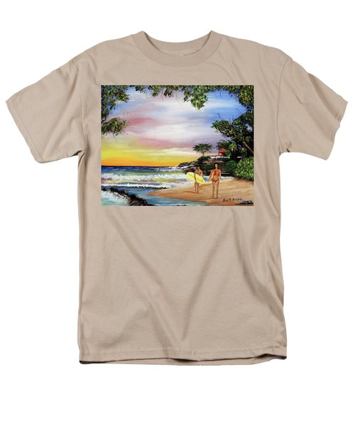 Surfing In Rincon Men's T-Shirt  (Regular Fit) by Luis F Rodriguez