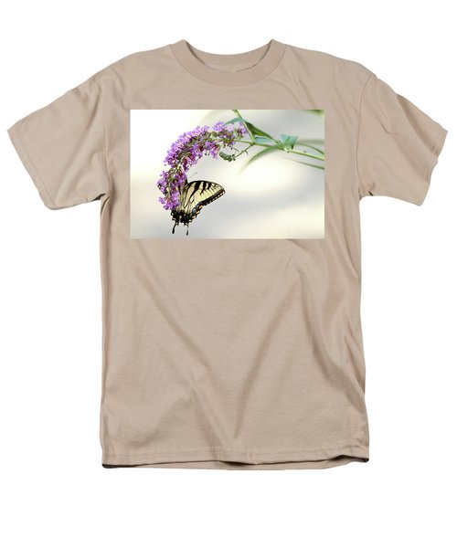 Men's T-Shirt  (Regular Fit) featuring the photograph Swallowtail On Purple Flower by Emanuel Tanjala
