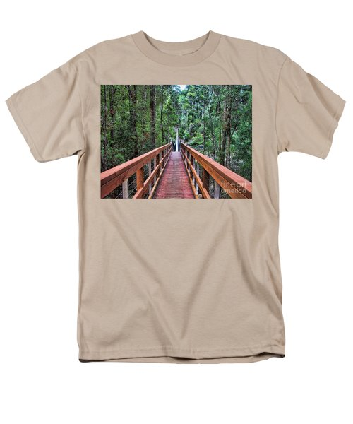 Men's T-Shirt  (Regular Fit) featuring the photograph Swing Bridge by Trena Mara