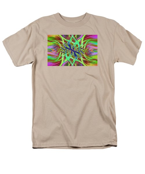 Men's T-Shirt  (Regular Fit) featuring the photograph Swirly Floral Mandala 01 by Jack Torcello