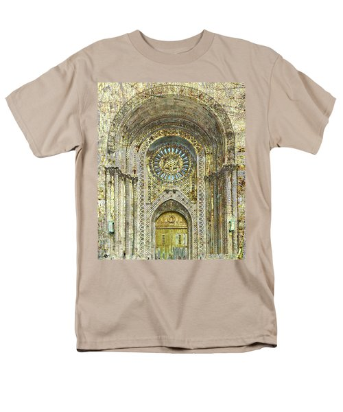 Men's T-Shirt  (Regular Fit) featuring the mixed media Synagogue by Tony Rubino