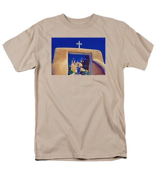 Men's T-Shirt  (Regular Fit) featuring the photograph Taos Church by Dennis Cox WorldViews