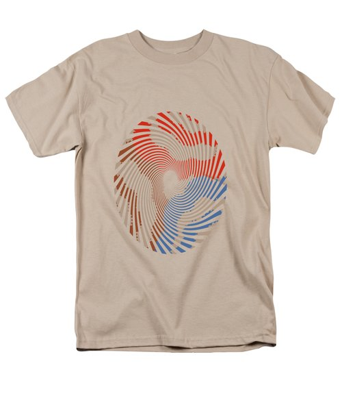 Men's T-Shirt  (Regular Fit) featuring the mixed media Taupe Ring Pattern by Christina Rollo