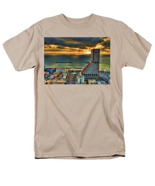Men's T-Shirt  (Regular Fit) featuring the photograph Tel Aviv Lego by Ron Shoshani
