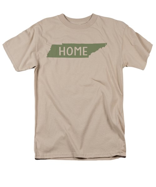 Men's T-Shirt  (Regular Fit) featuring the digital art Tennessee Home Green by Heather Applegate