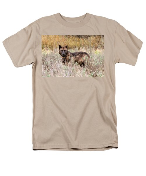 Teton Wolf Men's T-Shirt  (Regular Fit) by Steve Stuller