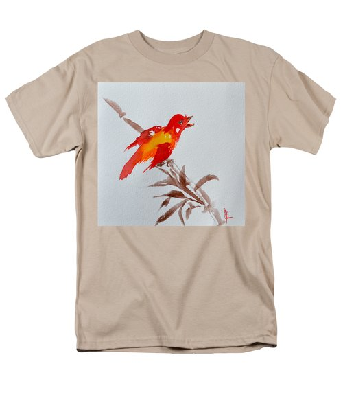 Thank You Bird Men's T-Shirt  (Regular Fit) by Beverley Harper Tinsley