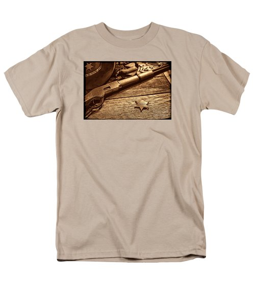 The Badge Men's T-Shirt  (Regular Fit) by American West Legend By Olivier Le Queinec
