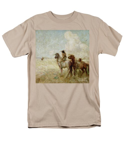 The Bison Hunters Men's T-Shirt  (Regular Fit) by Nathaniel Hughes John Baird