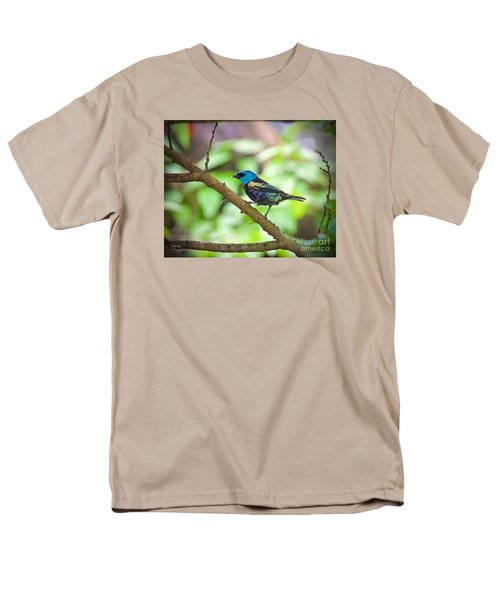 Men's T-Shirt  (Regular Fit) featuring the painting The Blue Necked Tanager by Judy Kay