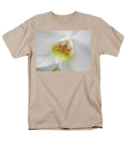 Men's T-Shirt  (Regular Fit) featuring the photograph The Cat Side Of An Orchid by Manuela Constantin