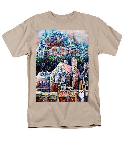 The Chateau Frontenac Men's T-Shirt  (Regular Fit) by Carole Spandau