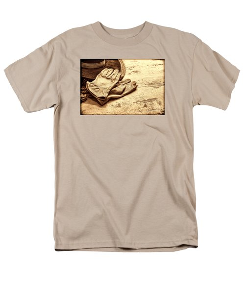 The Cowboy Gloves Men's T-Shirt  (Regular Fit) by American West Legend By Olivier Le Queinec