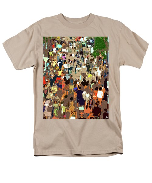 Men's T-Shirt  (Regular Fit) featuring the painting The Crowd by David Lee Thompson