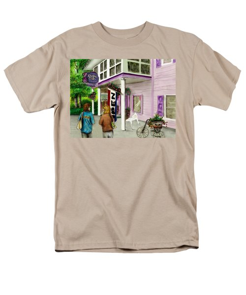 Men's T-Shirt  (Regular Fit) featuring the drawing The Crystal Cove At Lilydale Ny by Albert Puskaric
