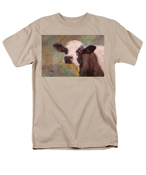 Men's T-Shirt  (Regular Fit) featuring the mixed media The Dairy Queen by Colleen Taylor