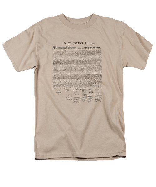 The Declaration Of Independence Men's T-Shirt  (Regular Fit) by War Is Hell Store