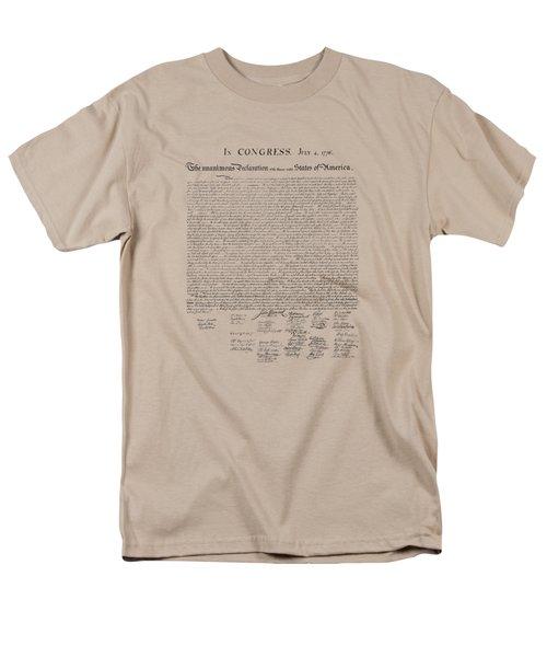 The Declaration Of Independence Men's T-Shirt  (Regular Fit)