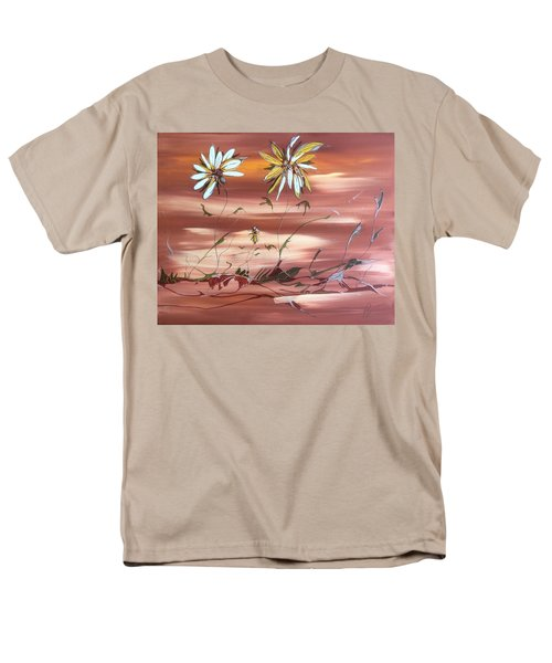 Men's T-Shirt  (Regular Fit) featuring the painting The Desert Garden by Pat Purdy