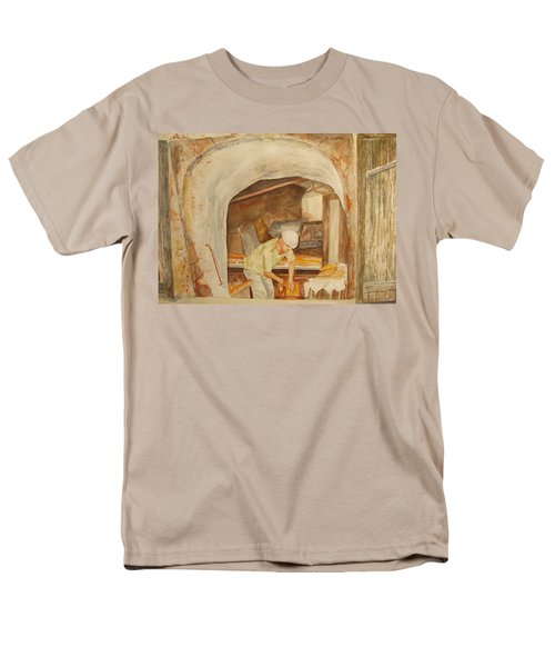 Men's T-Shirt  (Regular Fit) featuring the painting The French Baker by Vicki  Housel