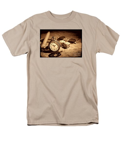 The Gambler's Watch Men's T-Shirt  (Regular Fit) by American West Legend By Olivier Le Queinec