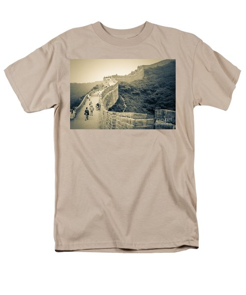 Men's T-Shirt  (Regular Fit) featuring the photograph The Great Wall Of China by Heiko Koehrer-Wagner