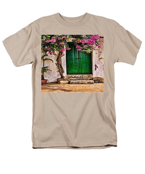 The Green Door Men's T-Shirt  (Regular Fit) by Rod Jellison