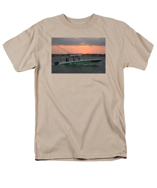 The Greene Turtle Power Boat Men's T-Shirt  (Regular Fit) by Robert Banach