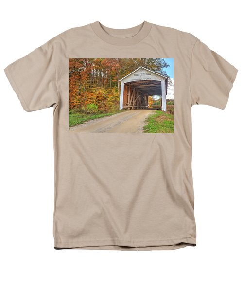 Men's T-Shirt  (Regular Fit) featuring the photograph The Harry Evans Covered Bridge by Harold Rau