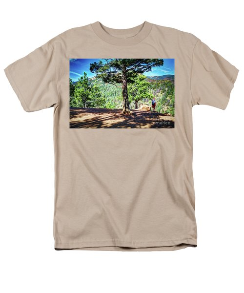 Men's T-Shirt  (Regular Fit) featuring the photograph The Hike by Deborah Klubertanz
