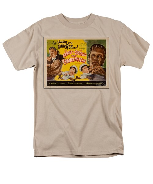 The Laughs Are Monsterous Abott An Costello Meet Frankenstein Classic Movie Poster Men's T-Shirt  (Regular Fit)