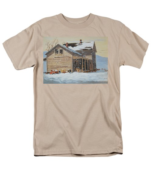 Men's T-Shirt  (Regular Fit) featuring the painting the Old Farm House by Len Stomski