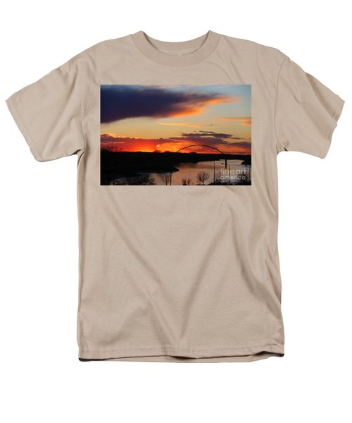 The Other Side Of The Bridge  Men's T-Shirt  (Regular Fit) by Yumi Johnson