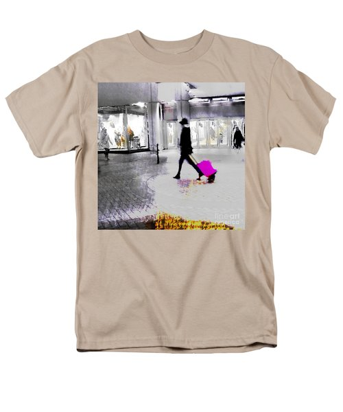 Men's T-Shirt  (Regular Fit) featuring the photograph The Pink Bag by LemonArt Photography
