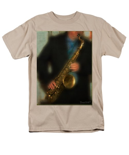 The Sax Player Men's T-Shirt  (Regular Fit) by Terri Harper